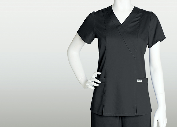 Greys Anatomy Womens 2 Pocket Mock Wrap Top Best Uniform