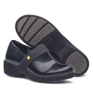 Dansko Camellia Grey Textured Patent Shoe