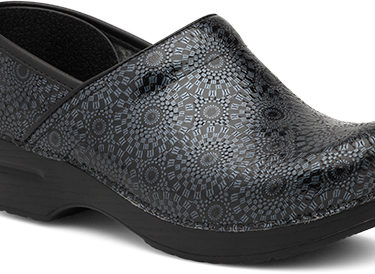 Dansko Black Medallion Patent Shoe