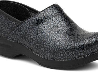 Dansko Black Medallion Patent Shoe