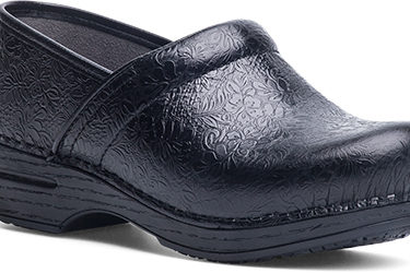 Dansko Pro XP Black Floral Tooled Shoe