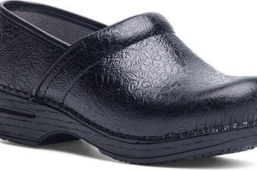 Dansko Pro XP Black Floral Tooled Shoe