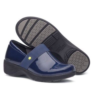 Dansko Camellia Navy Patent Shoe