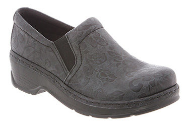 Klogs Naples Black Flower Tool Shoe