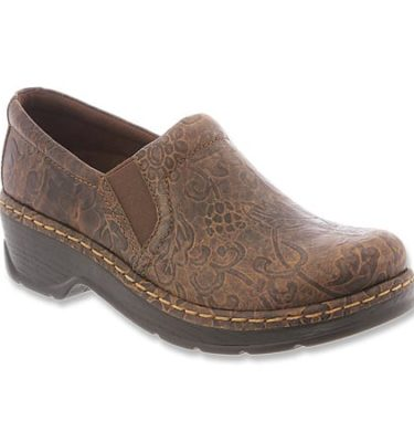 Klogs Naples Brown Flower Tool Shoe