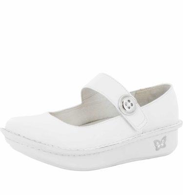 Alegria Paloma White Nappa Shoe