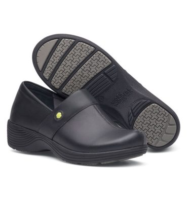 Dansko Camellia Black Leather Shoe